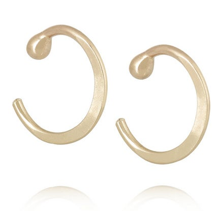 Melissa Joy Manning 14 Karat Gold Hoop Earrings