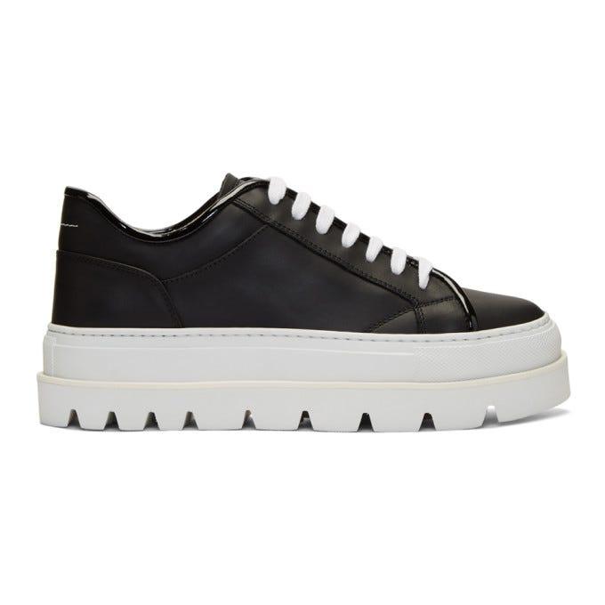 Maison Martin Margiela Black & White Flatform Sneakers