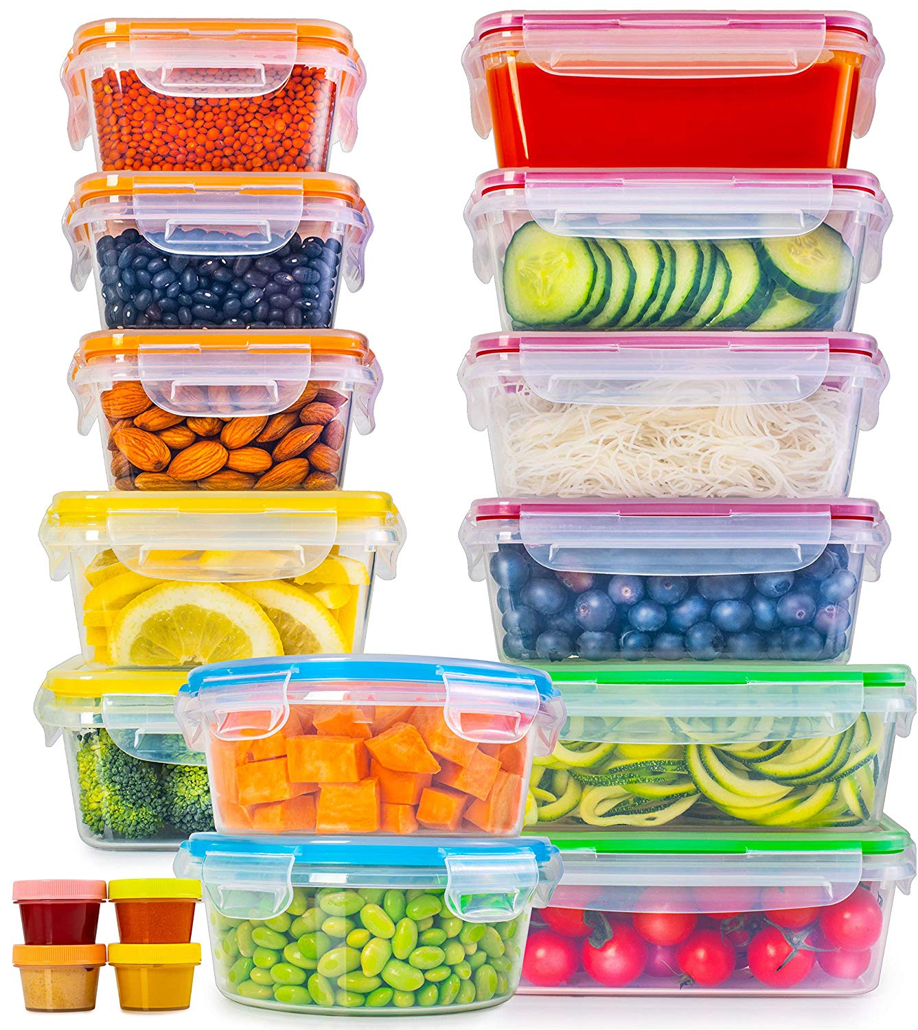 Food Storage Containers with Lids (17 Pack)