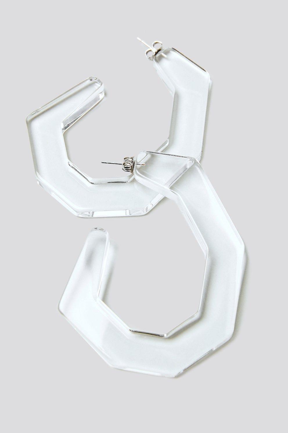 Clear Lucite Plastic Hoop Earrings For Summer 2018