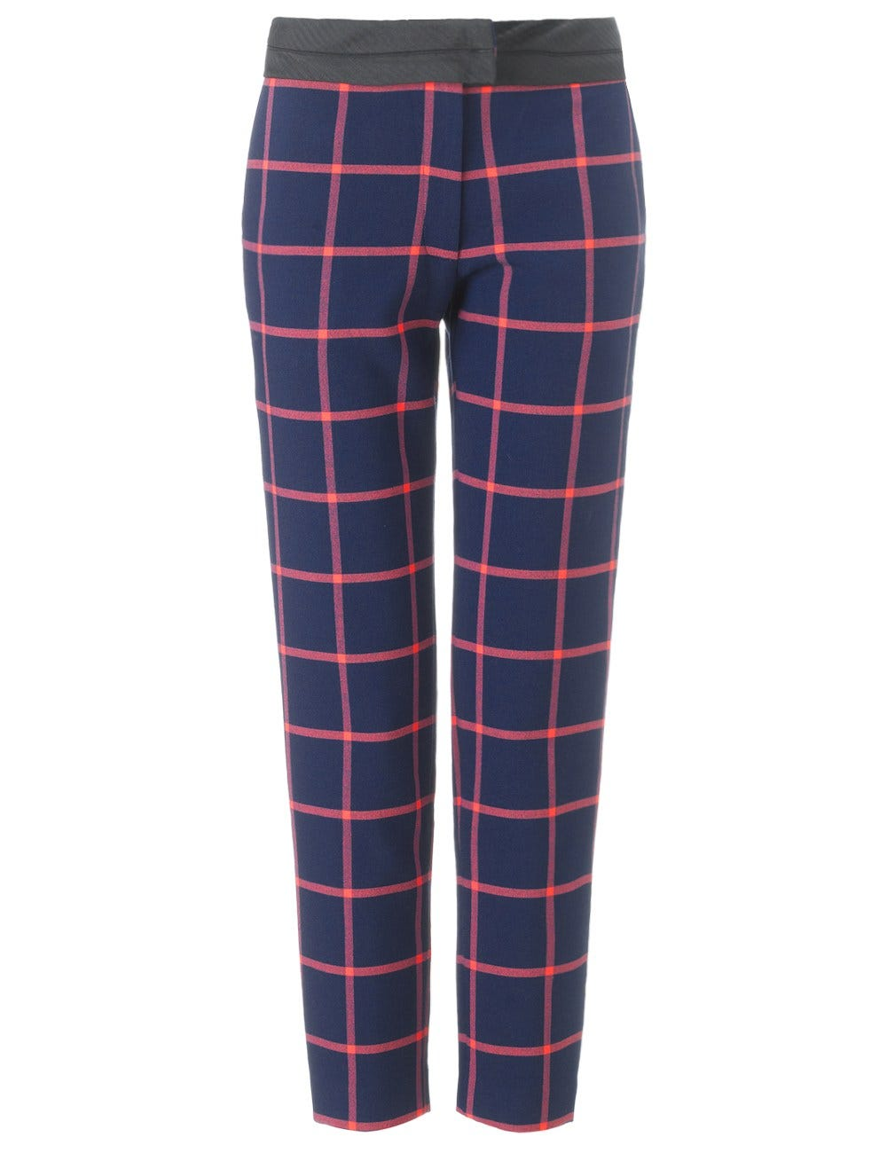 1b9efdf048 Thakoon Addition. Navy Check Cropped Trousers