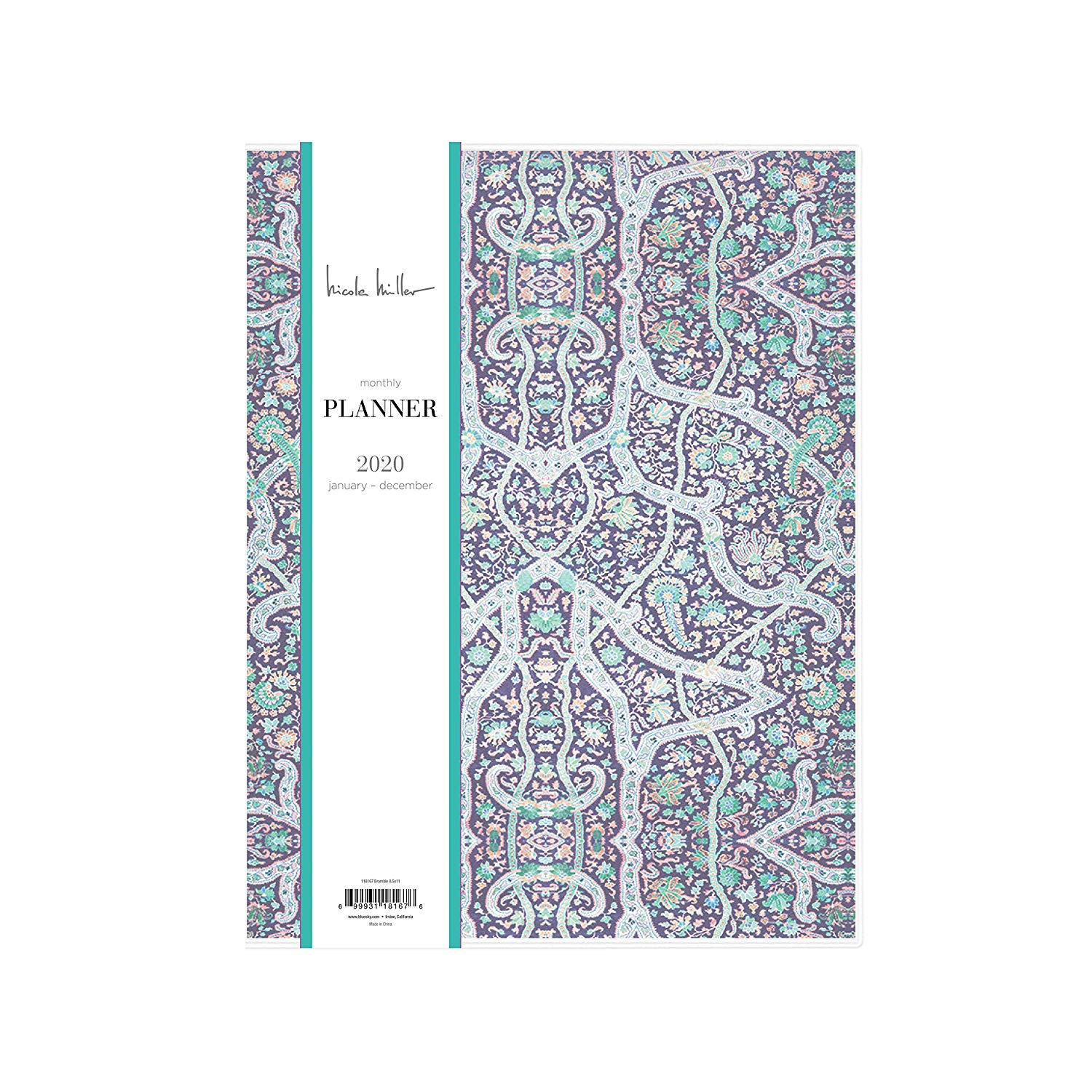 Nicole Miller for Blue Sky 2020 Monthly Planner